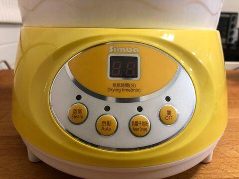 小獅王消毒鍋數位式時間顯示介面