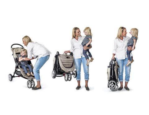 嬰兒推車秒收折