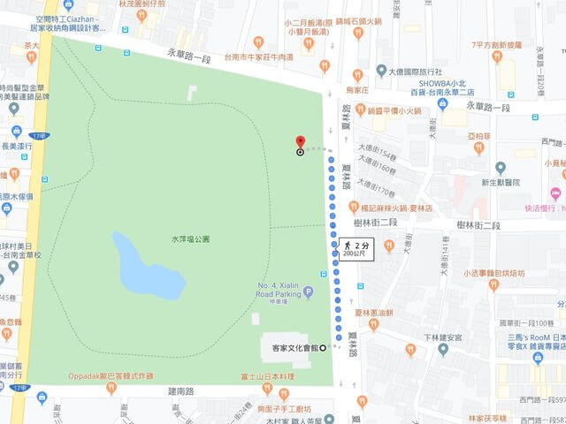 水萍塭公園停車場