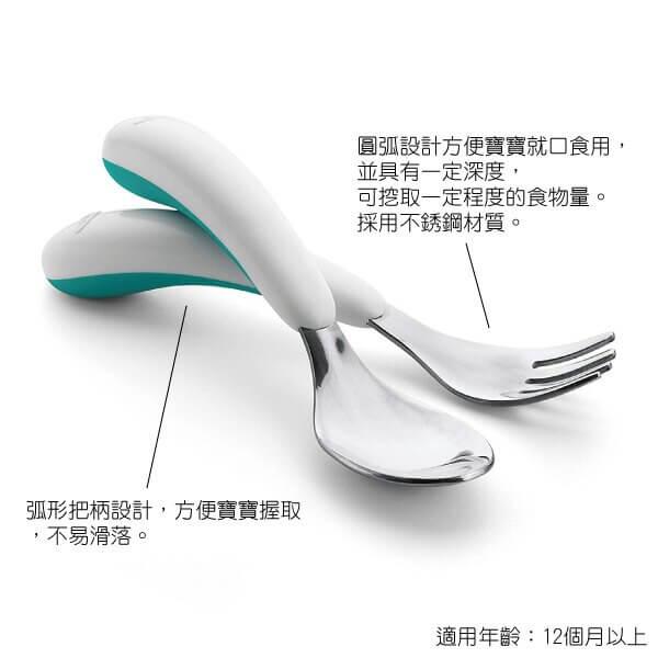 美國OXO 不鏽鋼隨行叉匙組